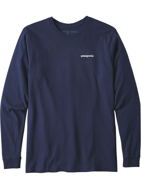 Patagonia P-6 Logo - T-shirt manches longues Homme - bleu